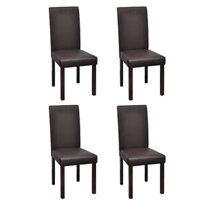 Dining Chairs 4 pcs Brown Faux Leather