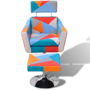 TV Armchair with Patchwork Design Fabric