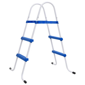 Steel Frame Pool Ladder Non-Slip Steps 86.5 cm