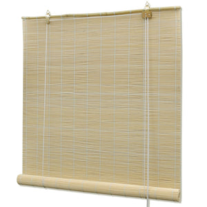 Natural Bamboo Roller Blinds 80 x 160 cm