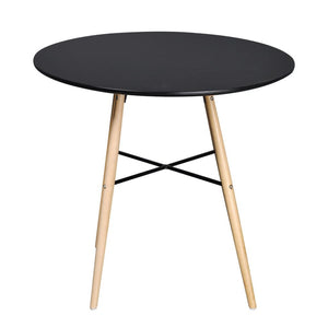 Dining Table MDF Round Black