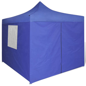 Blue Foldable Tent 3x3 m with 4 Walls Blue