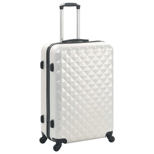 Hardcase Trolley Set 3 pcs Bright Silver ABS