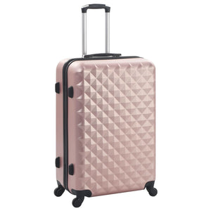 Hardcase Trolley Set 3 pcs Rose Gold ABS