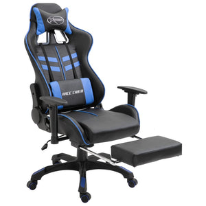 Gaming Chair with Footrest Blue