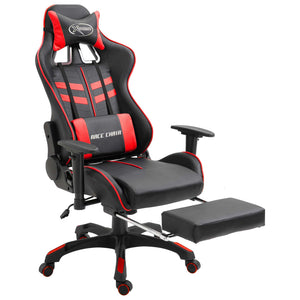 Gaming Chair with Footrest Red