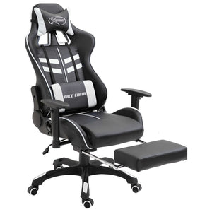 Gaming Chair with Footrest White