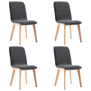 Dining Chairs 4 pcs Grey Fabric