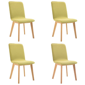 Dining Chairs 4 pcs Green Fabric