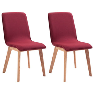 Dining Chairs 2 pcs Red Fabric