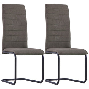 Dining Chairs 2 pcs Taupe Fabric