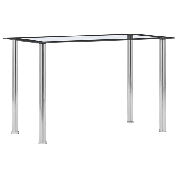 Dining Table Black and Transparent