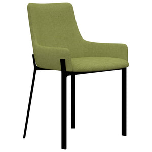 Dining Chairs 2 pcs Green Fabric