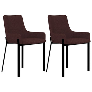 Dining Chairs 2 pcs Wine Fabric