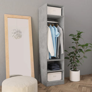 Wardrobe Concrete Grey 50x50x200 cm Chipboard