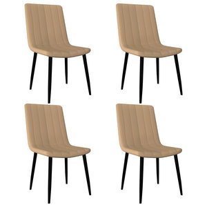 Dining Chairs 4 pcs Cream Faux Leather