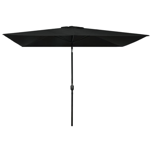Outdoor Parasol with Metal Pole 300x200 cm Black