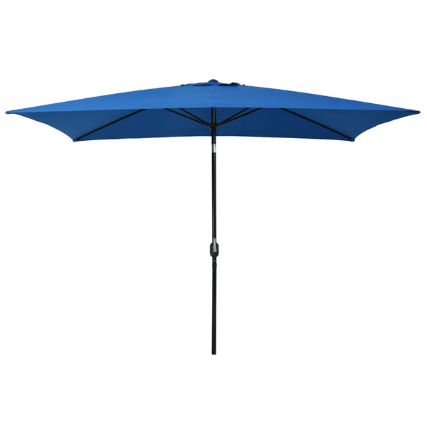 Outdoor Parasol with Metal Pole 300x200 cm Azure