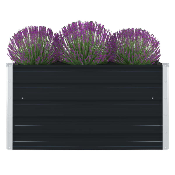 Raised Garden Bed 100x100x45 cm Galvanised Steel Anthracite