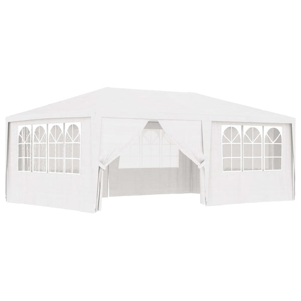 Professional Party Tent with Side Walls 4x6 m White 90 g/m²
