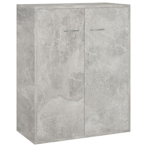Sideboard Concrete Grey 60x30x75 cm Chipboard