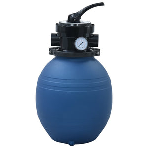 Pool Sand Filter with 4 Position Valve Blue 300 mm