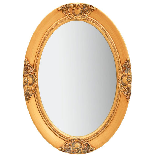 Wall Mirror Baroque Style 50x70 cm Gold