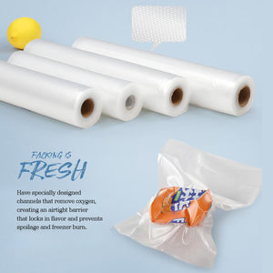 6x Vacuum Food Sealer Bag Bags Foodsaver Storage Saver Seal Commercial Heat Roll