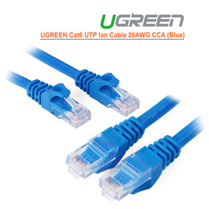 UGREEN Cat6 UTP lan cable blue color 26AWG CCA 10M (11205)
