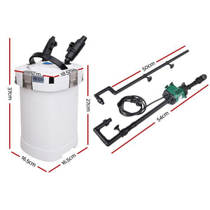 Aquarium External Canister Filter Aqua Fish Water Tank Sponge Pond 1250L
