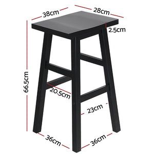 Set of 2 Baden Bar Stools Black - Online Discounts