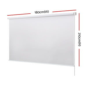 Roller Blinds Curtains Window Shades 1.8X2.1M White