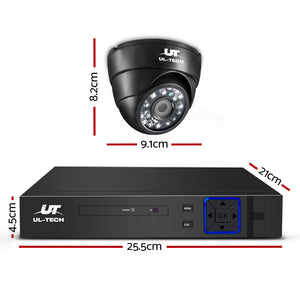1080P Eight Channel HDMI CCTV Security Camera 1 TB Black - Online Discounts