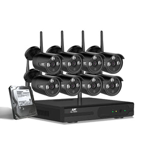 8CH UL-tech CCTV Wireless Security Cameras Kit 1TB