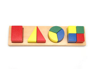 WOODEN SHAPE & FRACTION PUZZLE