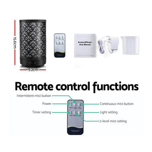 Devanti Aroma Diffuser Cool Mist 100ml Remote Control Black