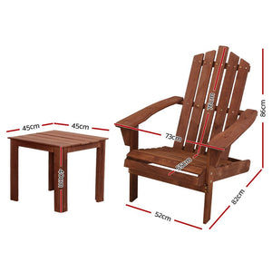 Outdoor Sun Lounge Beach Chairs Table Setting Wooden Adirondack Patio Lounges Chair
