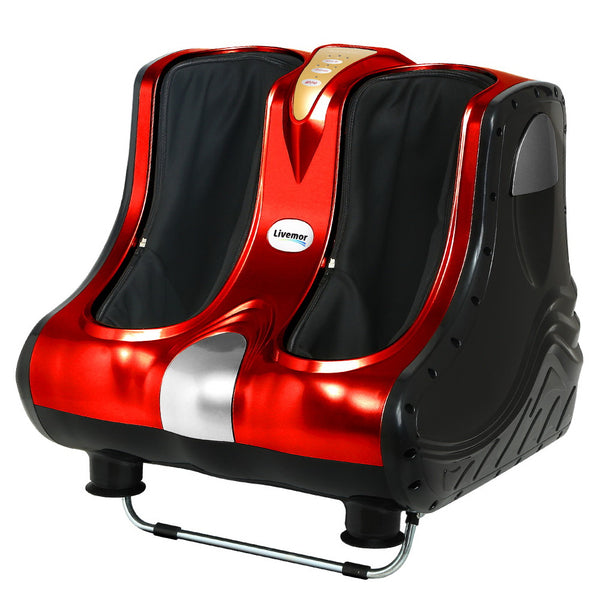 Foot Massager Shiatsu Ankle Calf Leg Massagers Circulation Enhancer Machine Red