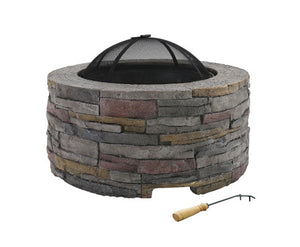 Grillz Fire Pit Outdoor Table Charcoal