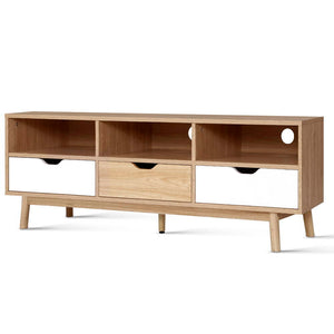 TV Cabinet Entertainment Unit Stand Wooden Storage 140cm Scandinavian