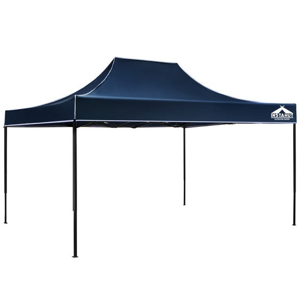 Instahut 3x4.5m Pop Up Gazebo Replacement Roof Outdoor Wedding Tent Garden Marquee Navy