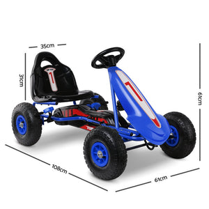 RIGO Kids Pedal Go Kart Car Ride On Toys Racing Bike Blue