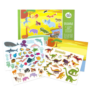REUSABLE STICKER PAD SET - ANIMAL WORLD