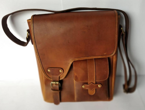 Crafted Leather Cross Body Bag