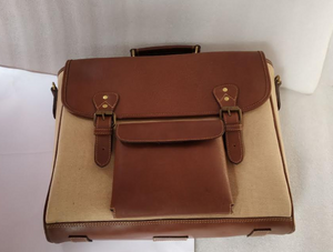 Handmade Leather Messenger Bag - Brown