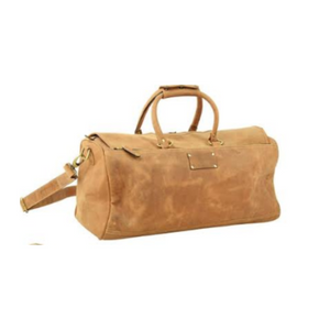 Crafted Bosski Leather light Brown Travel Bag