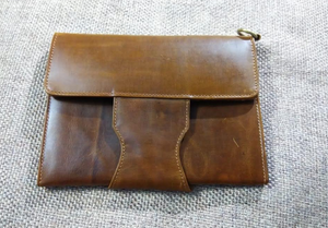 Leather iPad Cover - Brown