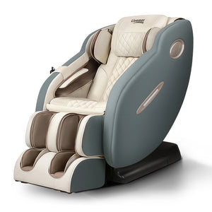 Livemor 3D Electric Massage Chair SL Track Full Body Zero Gravity Shiatsu Navy Cream