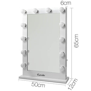 Make Up Mirror Frame with LED Lights 65x60cm White - Online Discounts