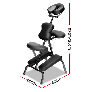 Zenses Massage Chair Massage Table Aluminium Portable Beauty Therapy Bed Tattoo Waxing